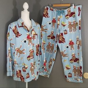 Nick & Nora Pajama Sets XXL Sock Monkey Leisure